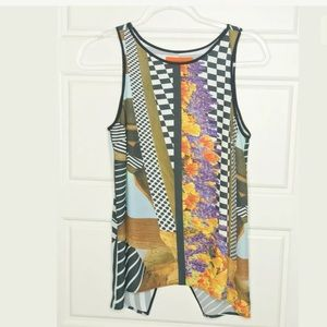 Clover canyon tank top crossover in back
